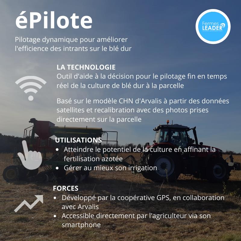 épilote pilotage fertilisation irrigation blé