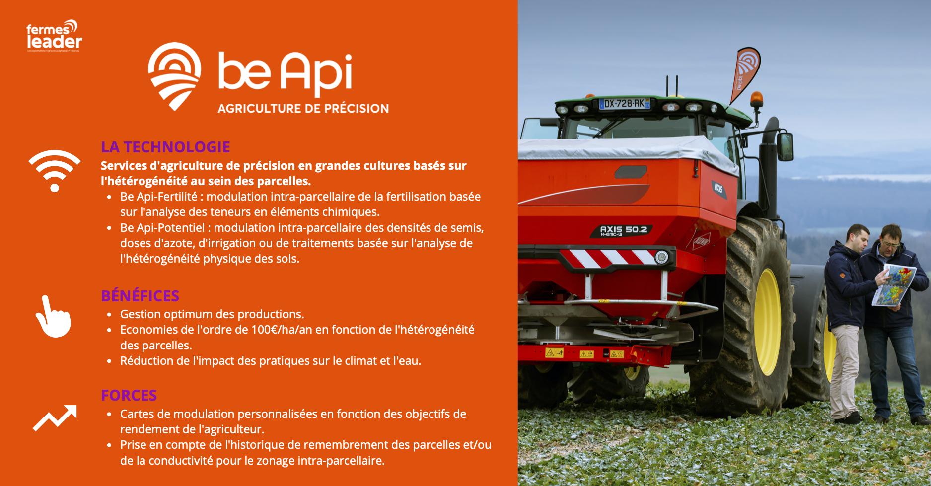 1Jeudi1outil be api agriculture de précision : la technologie, les bénéfices, les forces
