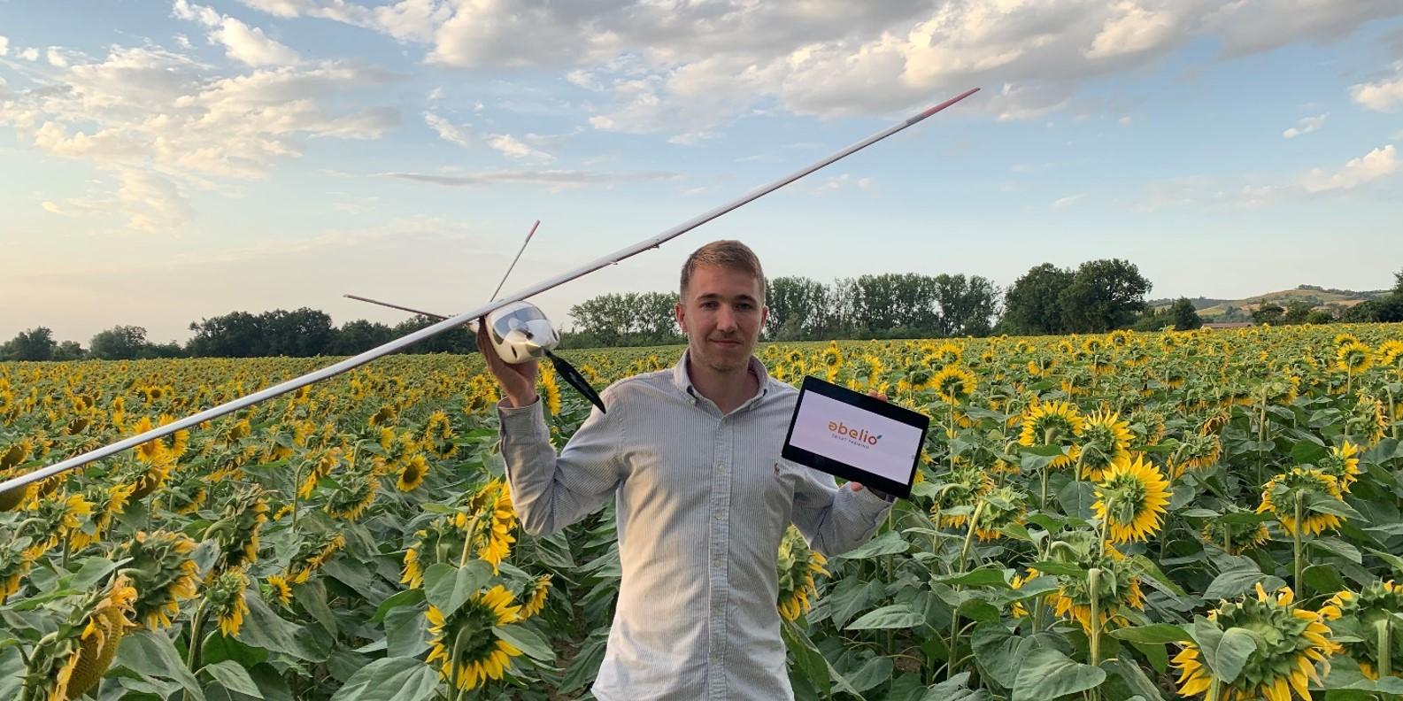 Abelio grégoire dupré drone solaire tournesol